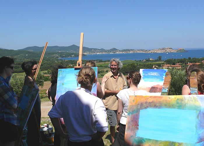 Malwoche auf Elba mit Arno Lindenberg (Foto: jeder-kann-malen.de)
