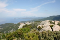 Blick über Marcian Marina, Portoferraio bis nach Cavo