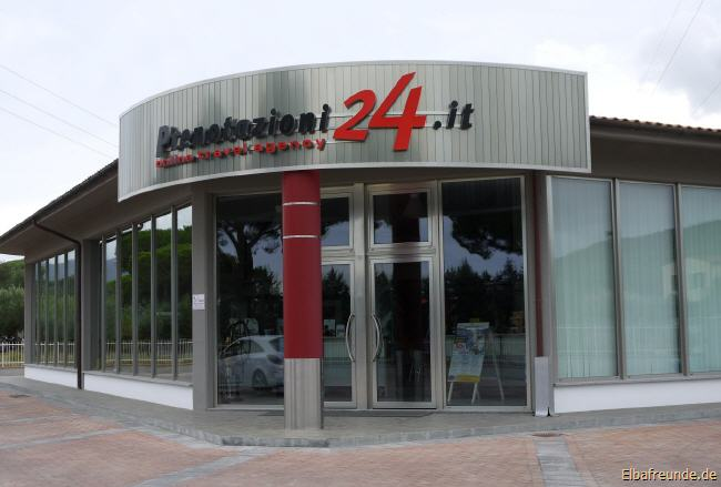 Büro Prenotazioni24.it in Portoferraio, Insel Elba, Partner von Elbafreunde.de vor Ort